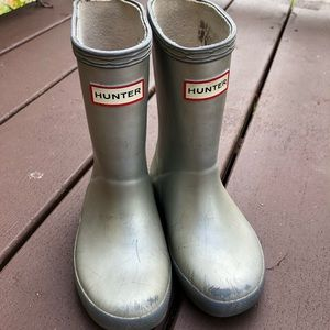 Hunter Boots in Silver